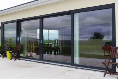Modern Panoramic Aluclad Installation Youghal Glass Doors