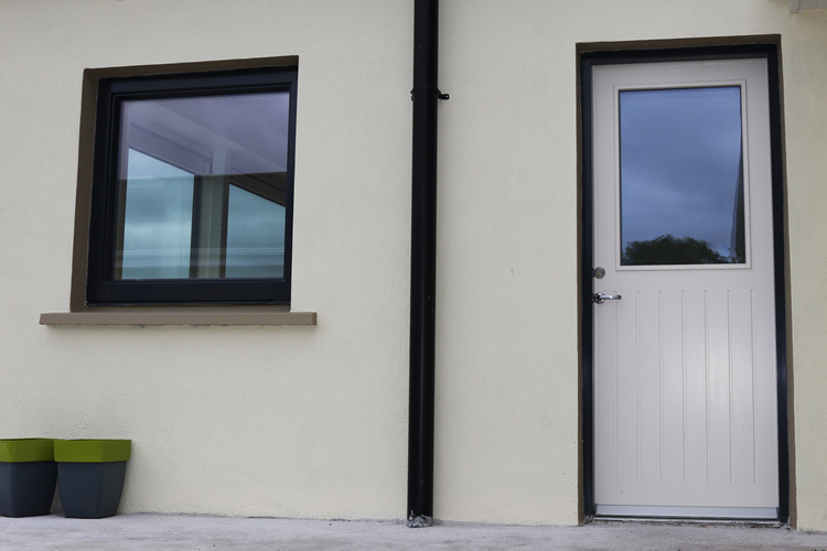 Modern Panoramic Aluclad Installation Youghal Glass Entrance Door