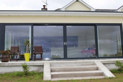 Modern Panoramic Aluclad Installation Youghal Glass French Doors