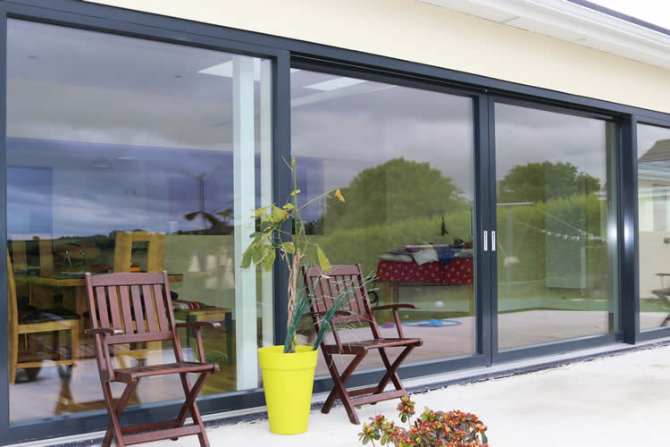 Modern Panoramic Aluclad Installation Youghal Glass