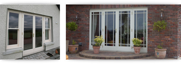 Youghal Glass Wooden French Doors