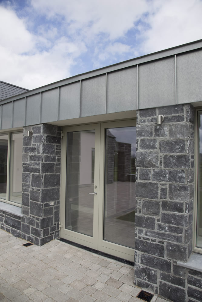 Aluminium cladding on the external face of a traditional window. Youghal Glass Windows & Doors